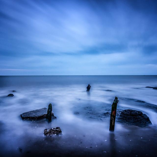 """Blue Sea Blue Sky"" stock image"