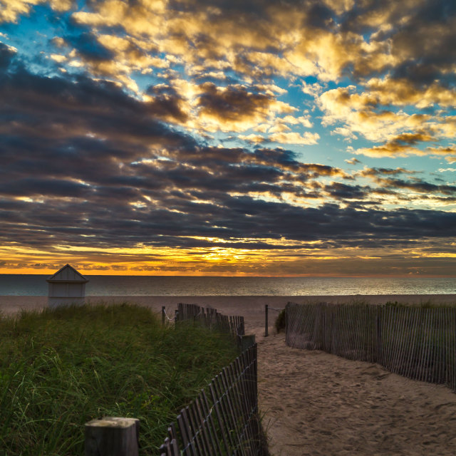 """South Beach at Sunrise"" stock image"