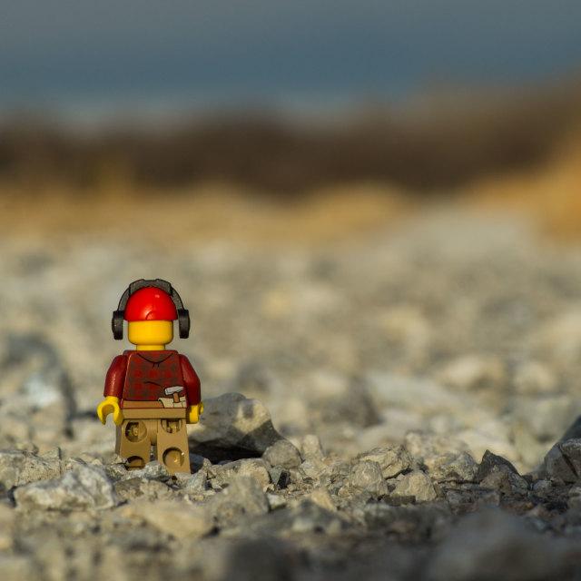 """""""Lego Man Wanderer"""" stock image"""