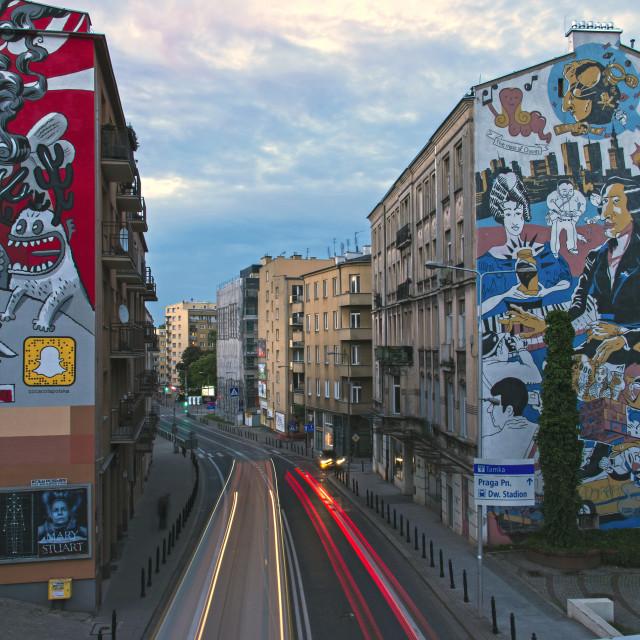 """Frederic Chopin mural"" stock image"
