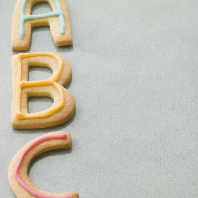 """ABC Shortbread Biscuits"" stock image"