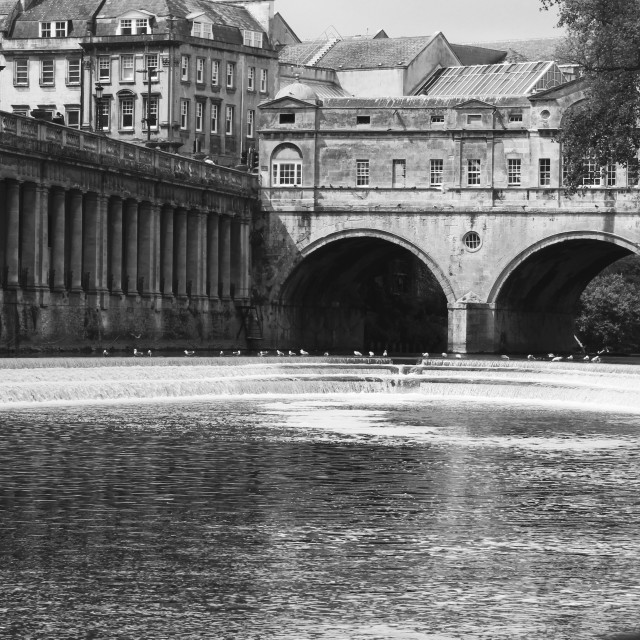 """Bath. Pulteney bridge."" stock image"