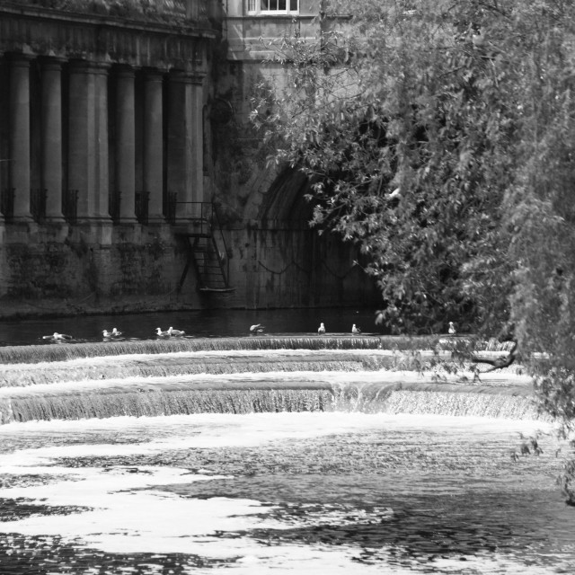 """Bath. Pulteney Bridge."" stock image"