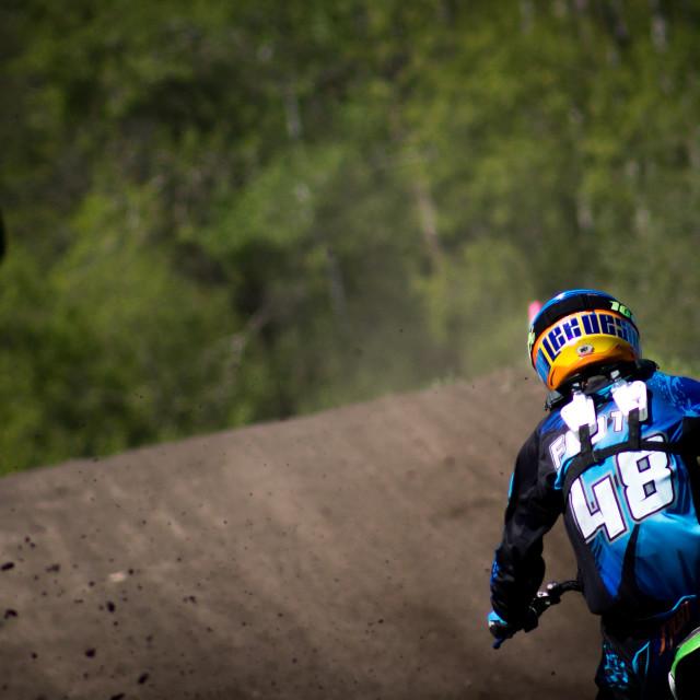"""""""Motocross racer"""" stock image"""