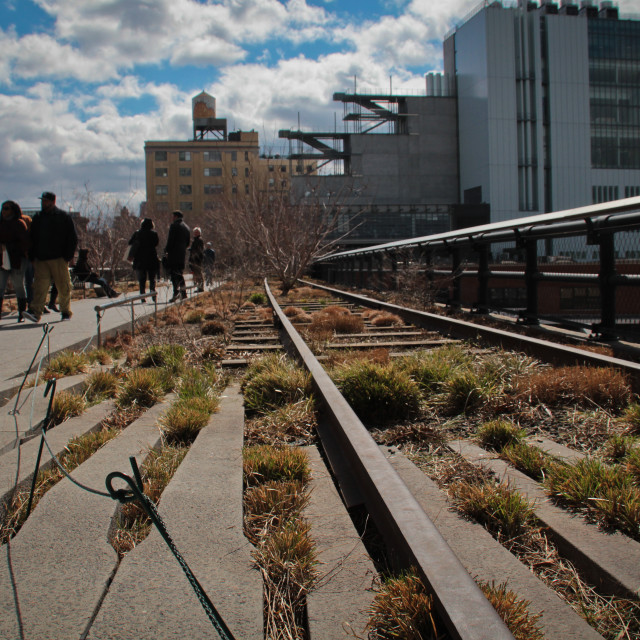 """The Highline, New York City, USA"" stock image"