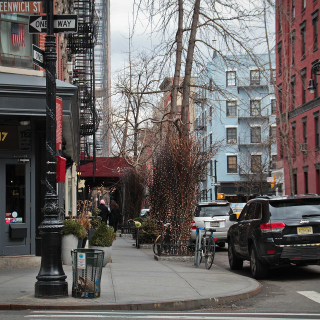 """Houses in Greenwich Village, Manhattan, New York City"" stock image"