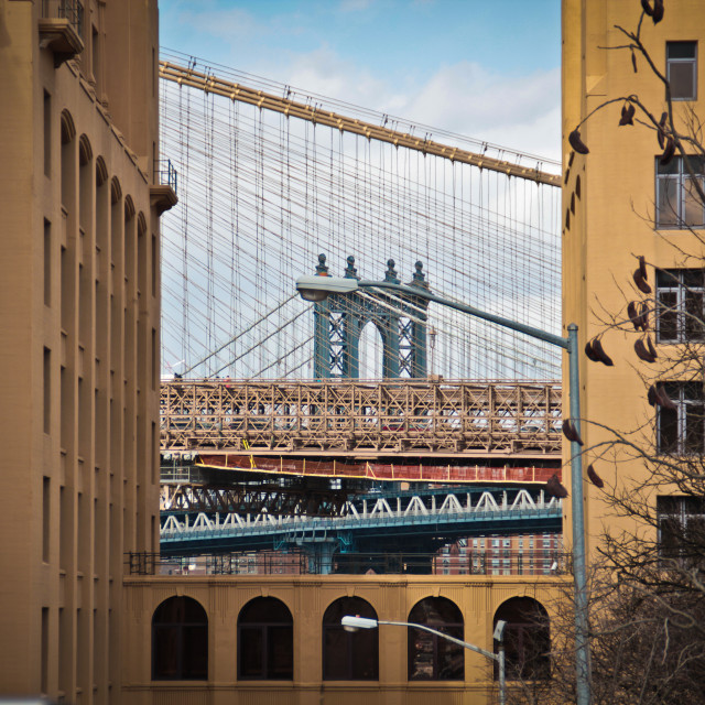"""Manhattan Bridge, New York City"" stock image"