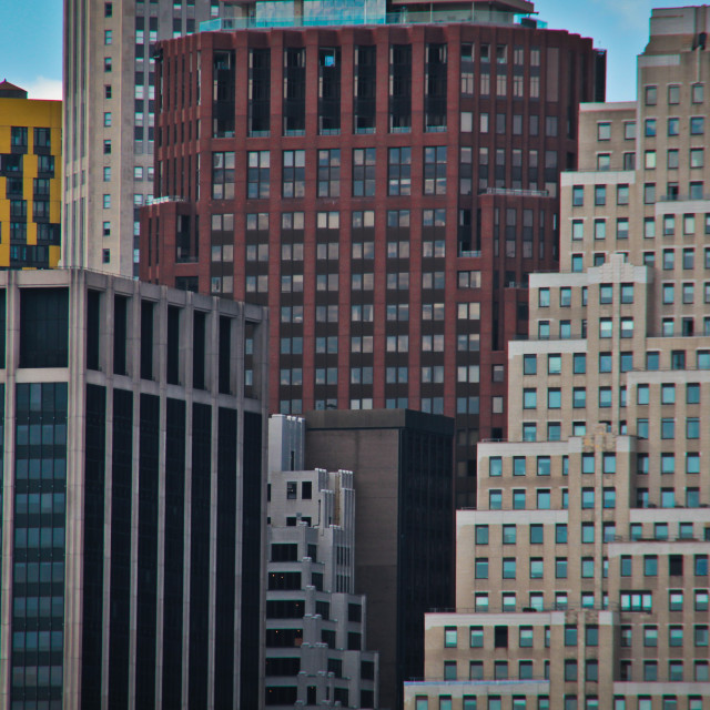 """""""Wall Street skyscrapers"""" stock image"""