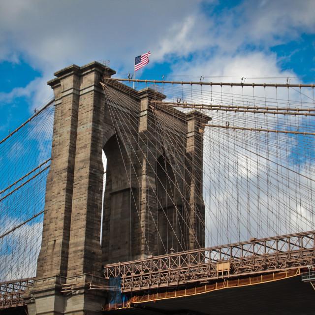 """The Brooklyn Bridge, New York City"" stock image"