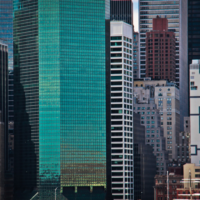 """Wall Street skyscrapers"" stock image"