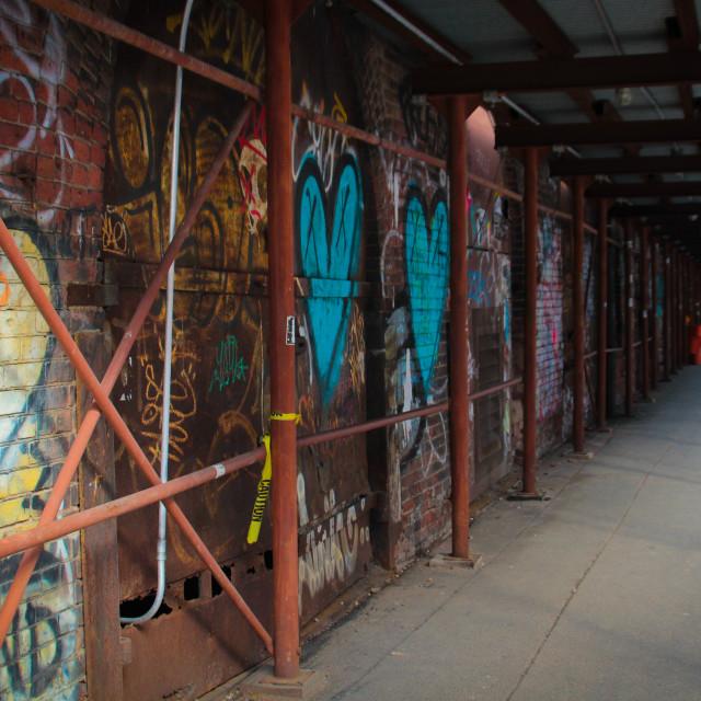 """""""Grafitti in Dumbo, Brooklyn"""" stock image"""
