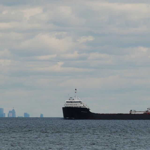 """Freighter Toronto"" stock image"
