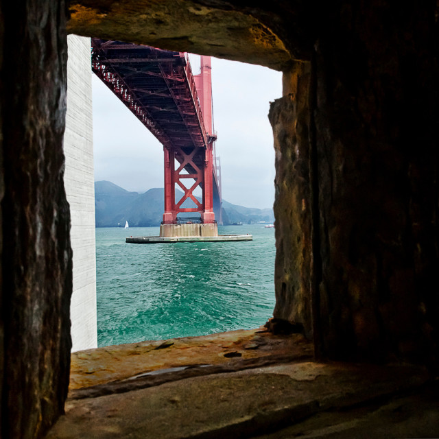 """Golden gate bridge view"" stock image"