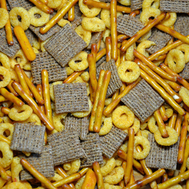 """Crunchy snack mix"" stock image"
