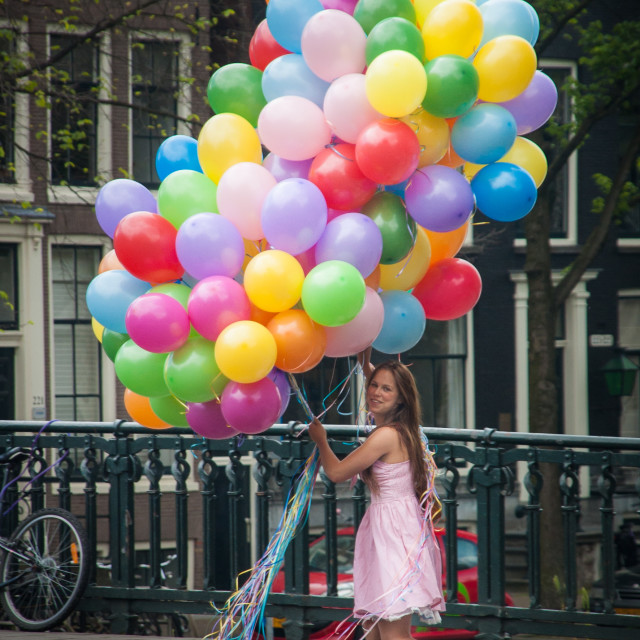 """The balloon girl"" stock image"