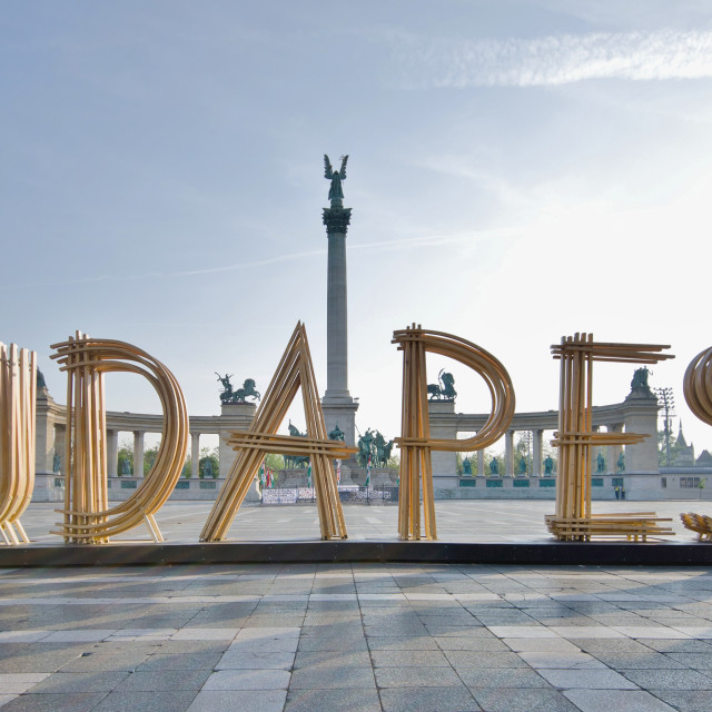 """""""Heroes Square, Budapest"""" stock image"""