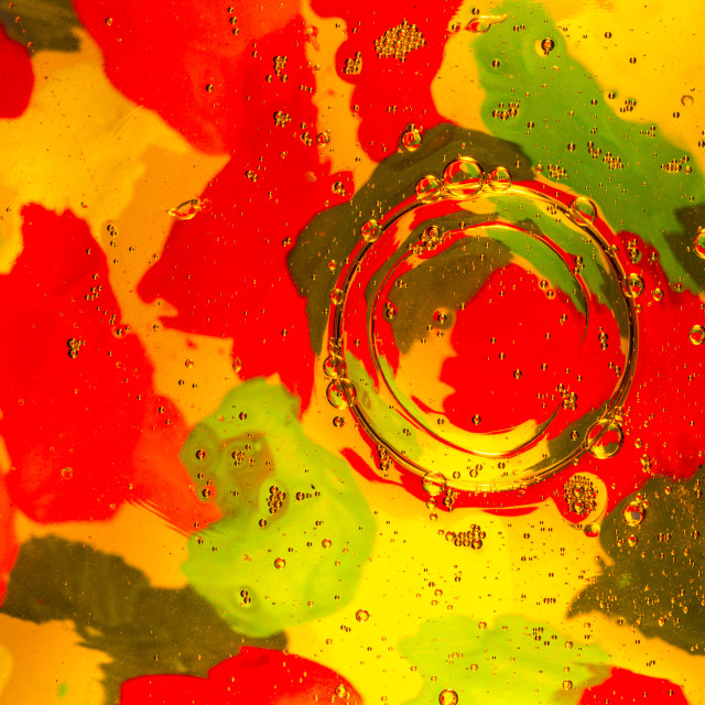 """""""Oil and Water Photographic Art"""" stock image"""
