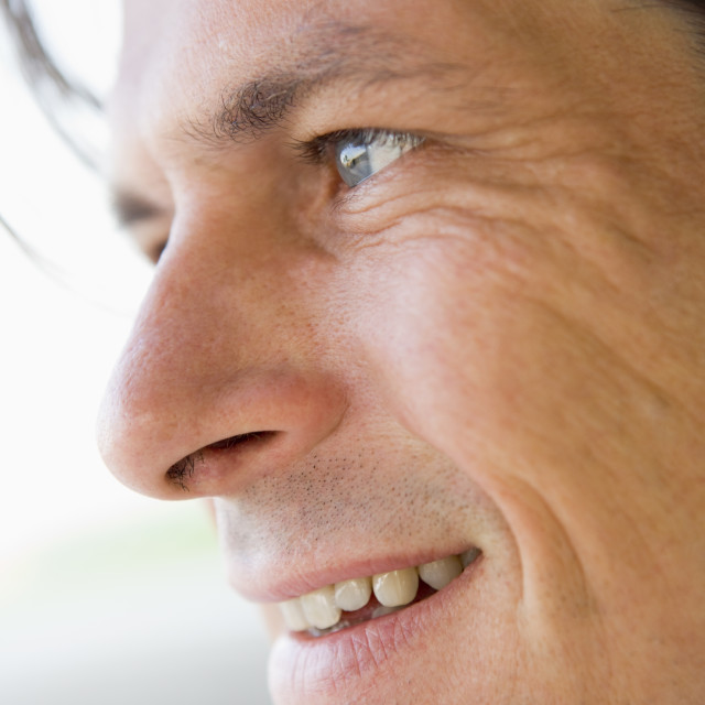 """""""Smiling man in his 30s"""" stock image"""
