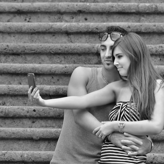"""""""Amalfi Selfie"""" stock image"""