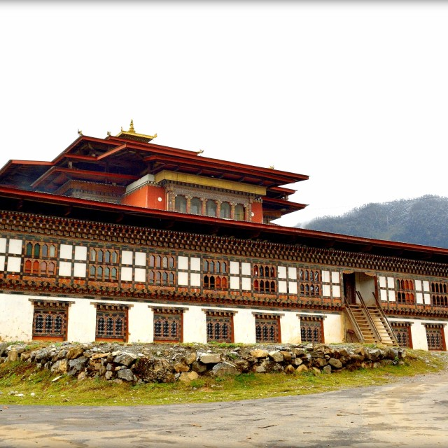 """Gangtey Monastery, Bhutan"" stock image"