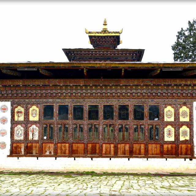"""A Small chamber of Gangtey Monastery, Bhutan"" stock image"