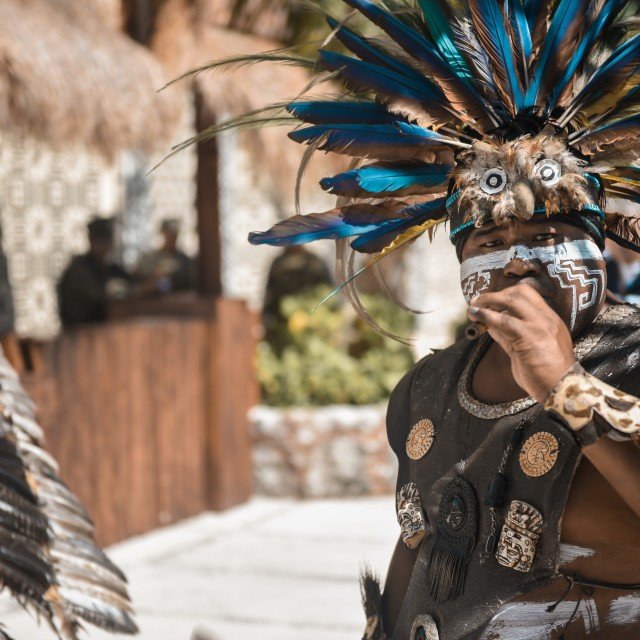 """Mayan piper"" stock image"