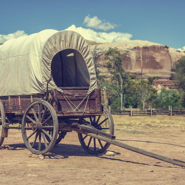 """covered wagon"" stock image"