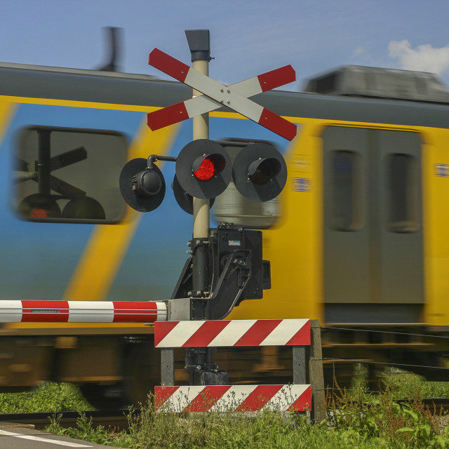 """Train passing"" stock image"