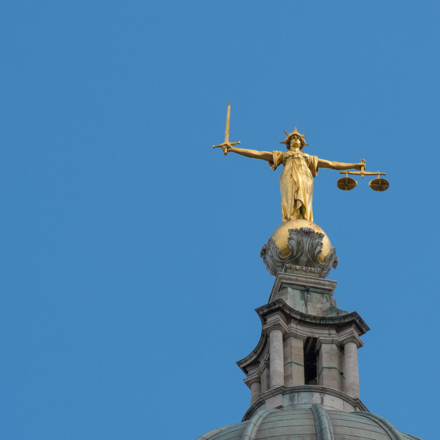 """""""Lady Justice at the Old Bailey"""" stock image"""