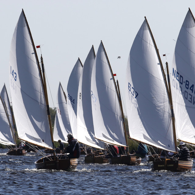"""12' Dinghy Racing"" stock image"