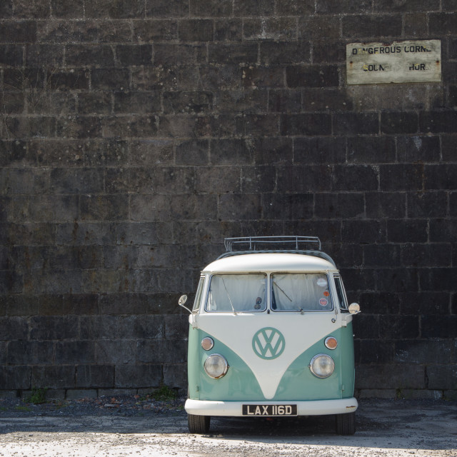 """Nice VW Campervan"" stock image"