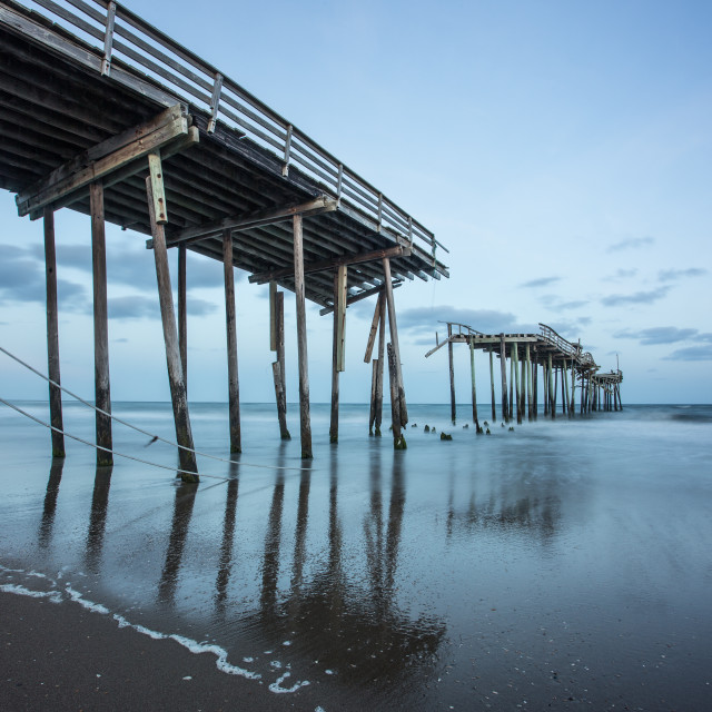 """Cape Hatteras Pier"" stock image"