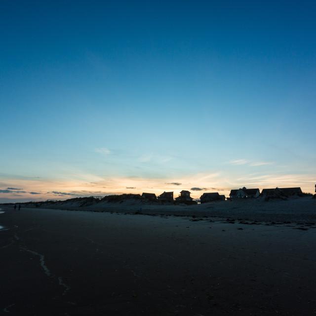 """Twilight Beach Homes"" stock image"