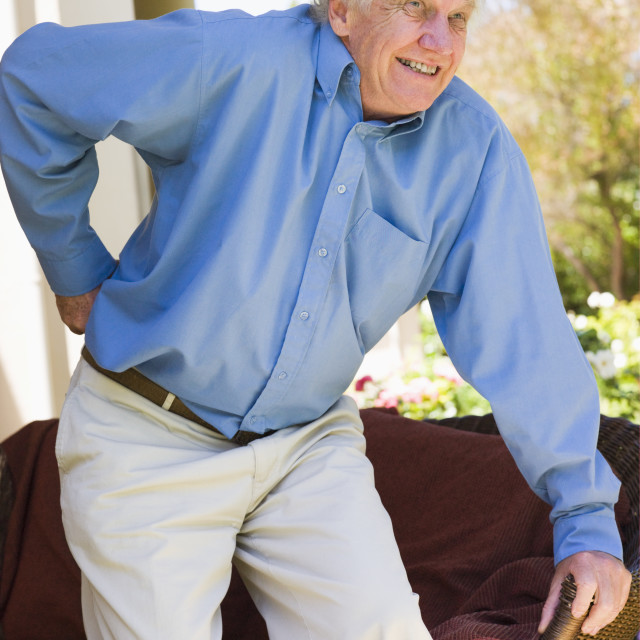 """""""Man With Back Pain"""" stock image"""