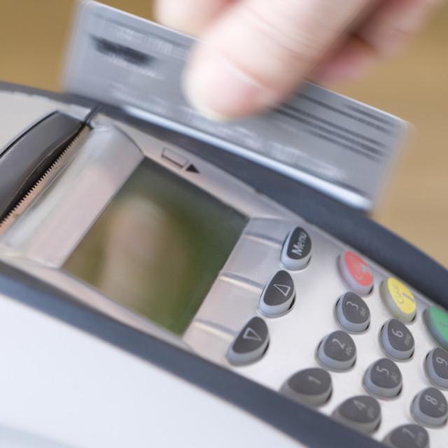 """Swiping Credit Card"" stock image"