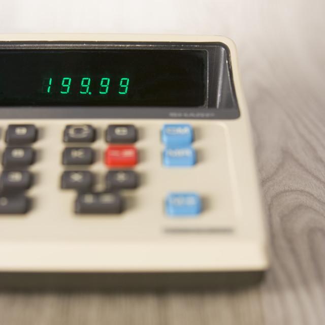 """Outdated Calculator"" stock image"