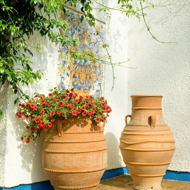 """mediterranean patio"" stock image"