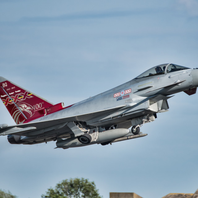 """Eurofighter Typhoon XXX"" stock image"