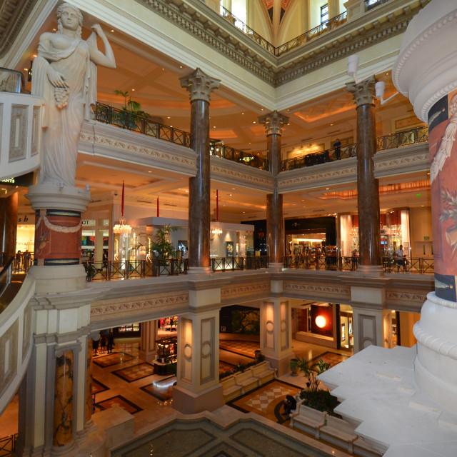 """Caesar Palace shops"" stock image"