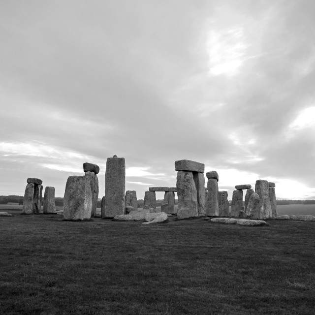 """Stonehenge at Dawn"" stock image"