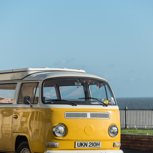 """Yellow campervan"" stock image"