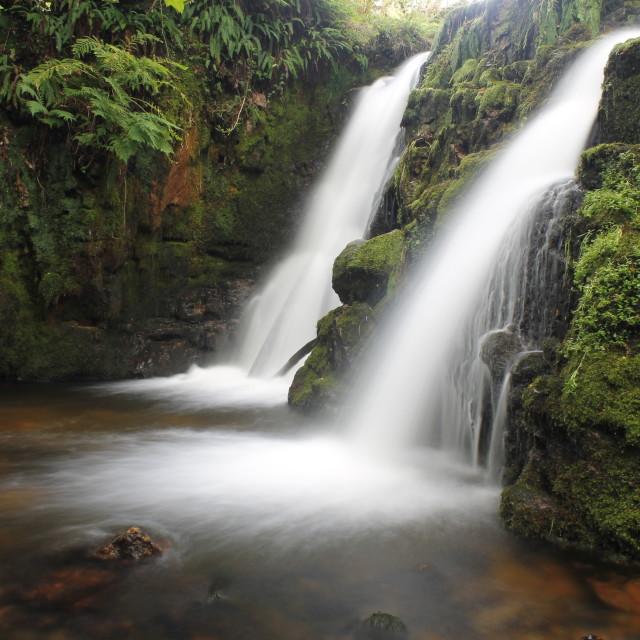 """Venford Waterfall, Dartmoor"" stock image"