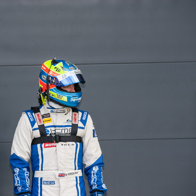 """Racing driver in pit lane"" stock image"