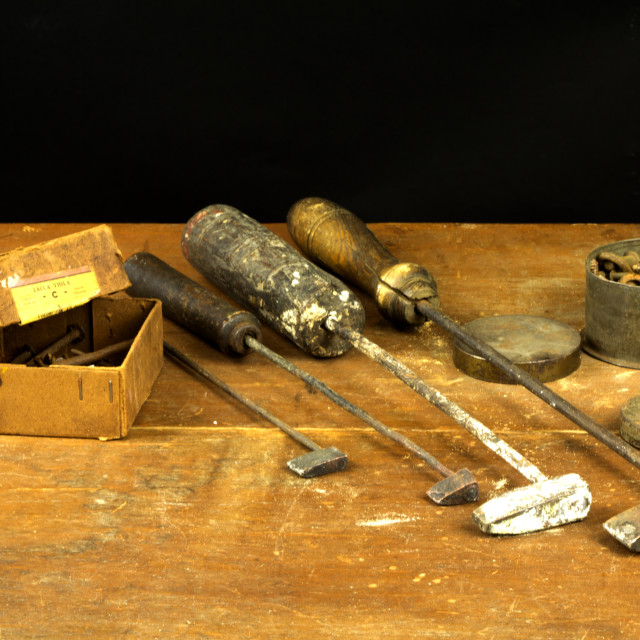 """Old chisels"" stock image"