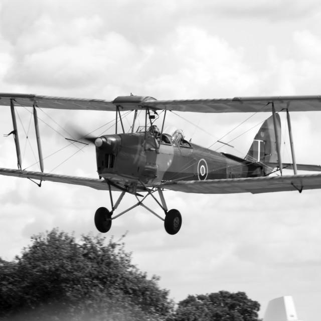 """De Havilland DH82a Tiger Moth NM181"" stock image"