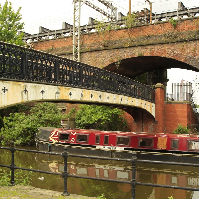 """Bridgewater Canal"" stock image"