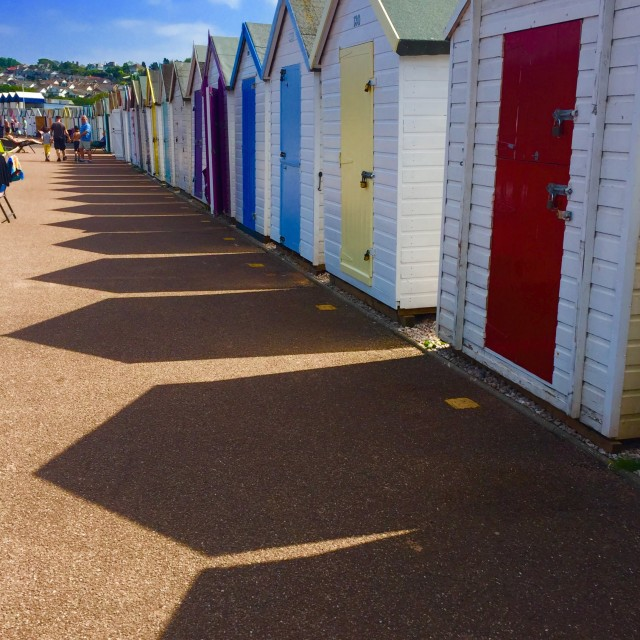 """Broadsands Beach Huts"" stock image"