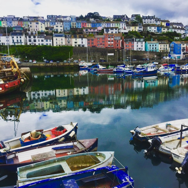 """Brixham Harbour, Devon"" stock image"