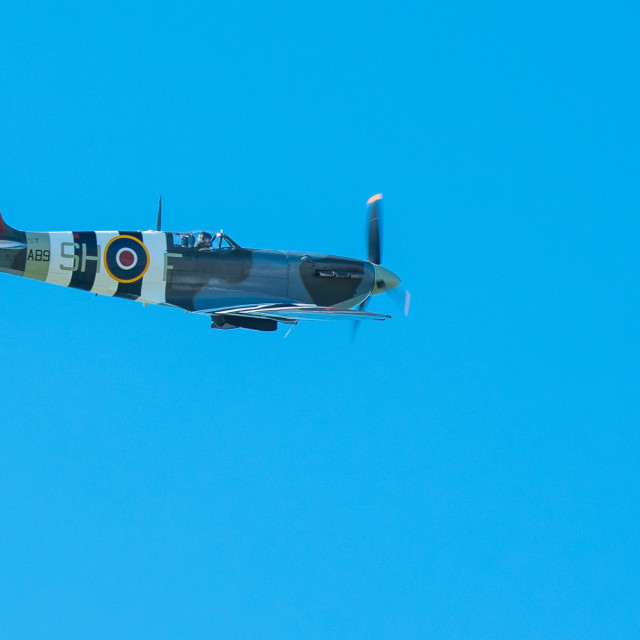"""Lone Spitfire"" stock image"