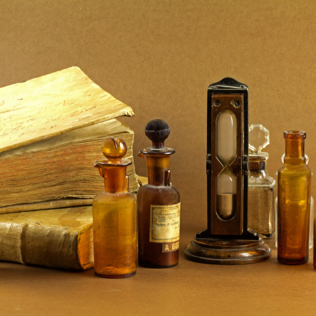 """Old pharmacy"" stock image"